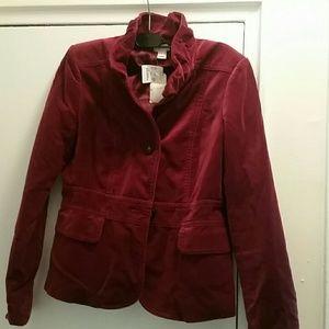 Plum velvet jacket